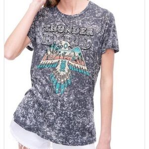 Thunder Bird Burnout Graphic T-Shirt Short Sleeves
